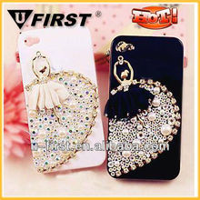 bling ballet girl pearl diamond case for iphone 4 4s,4s China Supplier,manufactire