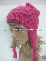 2012 new fashion grils earmuffs knitted hats Peruvian style hat