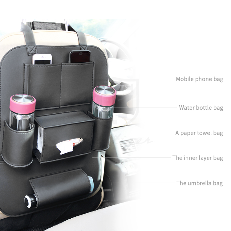 Amazon Top Seller High-class Hanging Car Back Seat Organizer with Protector