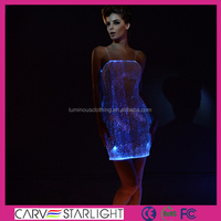 LED glow fabric lovely guangzhou wedding dress
