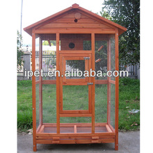 Wooden Singing Bird Cage with run AV067
