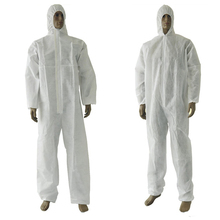 PP or SMS materials white color cheap disposable coverall