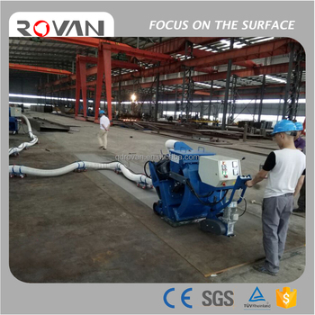 Movable steel plate shot blasting machine, mobile floor shot blaster