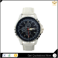 Best selling products white genuine leather Japan movement quartz watch man Y005