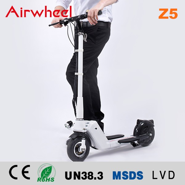 New product Airwheel Z5 foot pedal kick scooter with 1 second fold