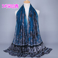 NEW DESIGN women's printed floral kerchief viscose scarf shawl hijab muslim long wrap headband scarves/scarf GBS349