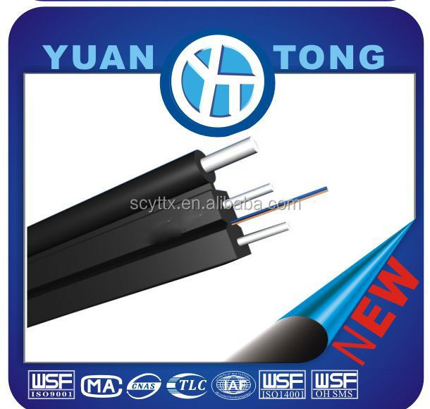 Self supporting Coaxial FRP fiber optical dual core outdoor cable