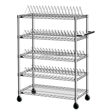 Home office supmermarket warehouse using Light Metal Wire Shelf with tear hole post & mesh shelf