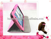 Smart case for SamSung galaxy table pc p3100 with pink color folder