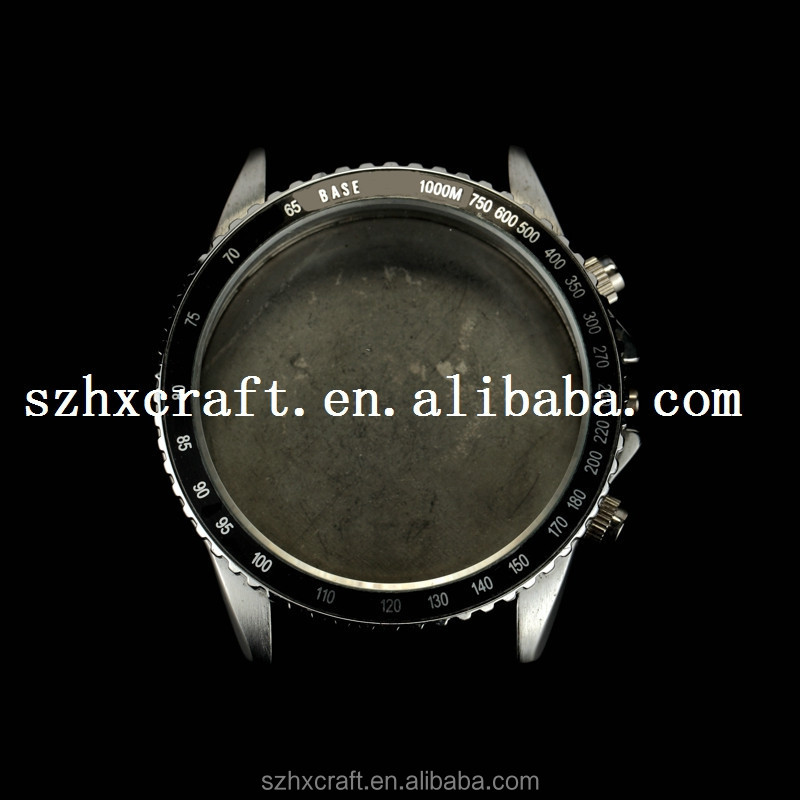 Custom-made Round Shaped Stainless Steel Watch Cases With Graduated Circle