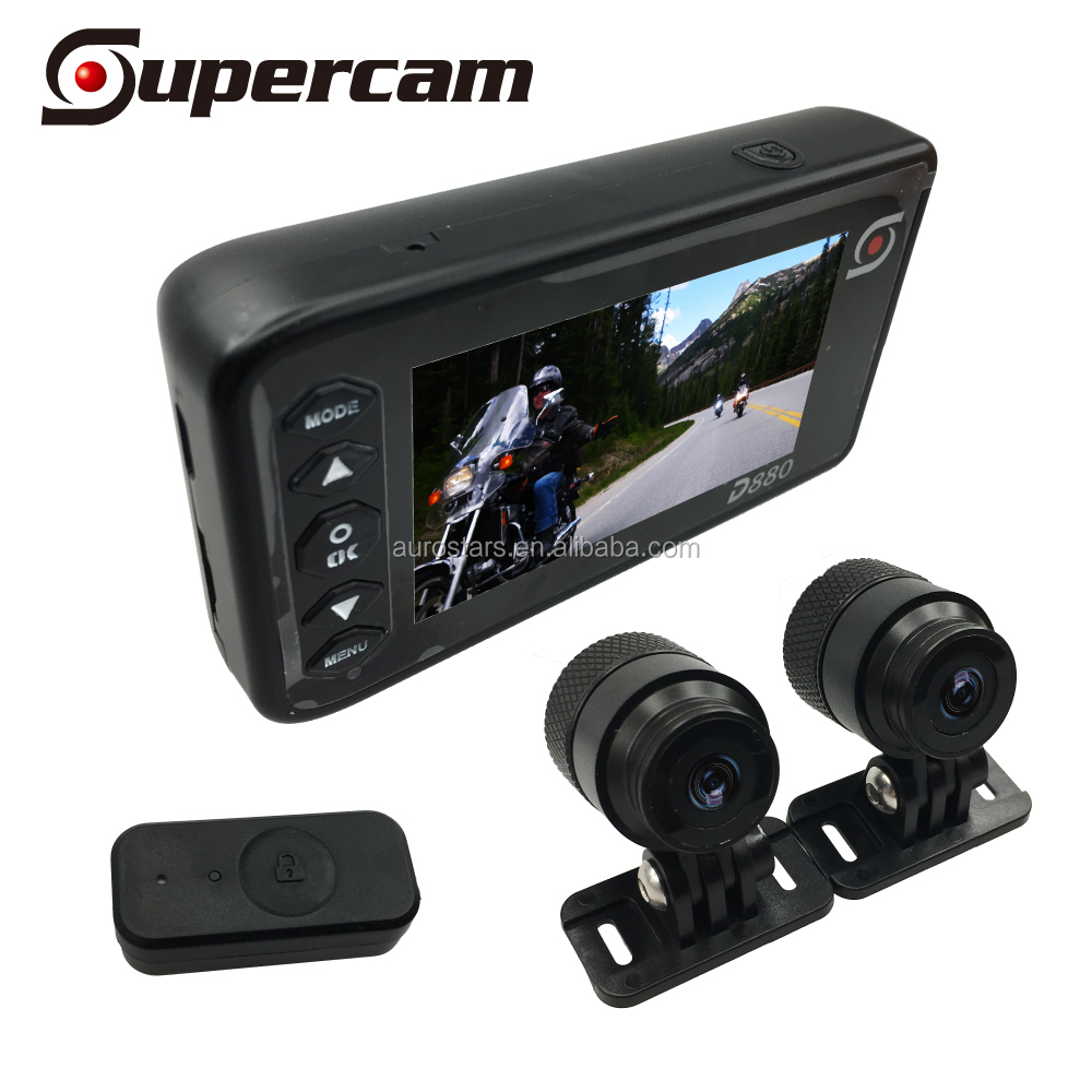 High Resolution Double Front Rear View Snapshot Night Vision Motorcycle Camera