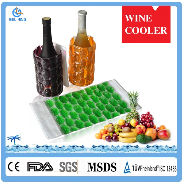 Durable Bulk PVC TPU PE Wine Bottle Gel Ice Cooling Bag For Home & Travel & Party Wine Cooler Holder