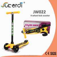 CE SGS certificated aluminum 4 wheel scooter balance scooter