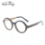 Ready Goods Fashion Handmade Round Logo Wood Optical Frame Glasses For Girls