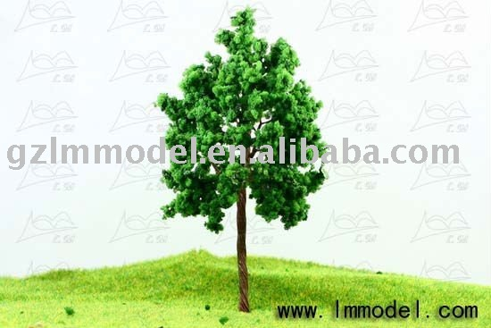 N scale model train tree