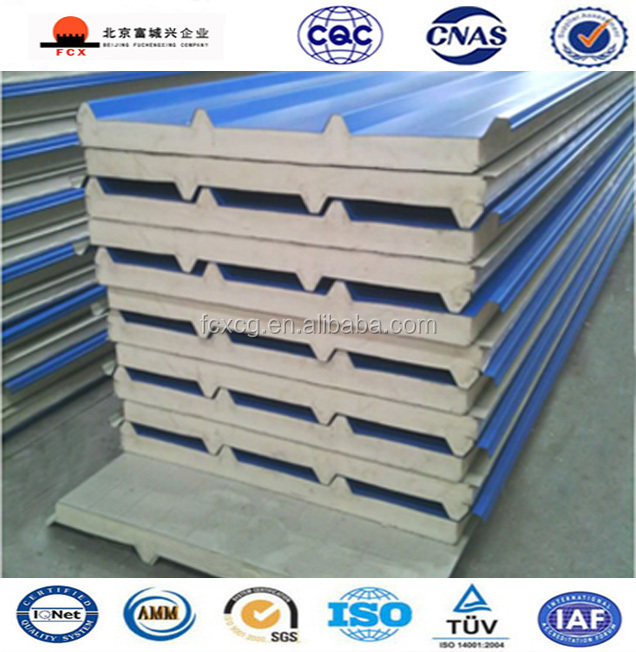 Energy-saving Corrugated Composite Cheap Price PU Polyurethane Sandwich Panel For Roof