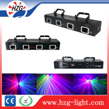 Professional stage discotheque disco dj night club red green blue yellow laser light 4 head RGBY laser lights
