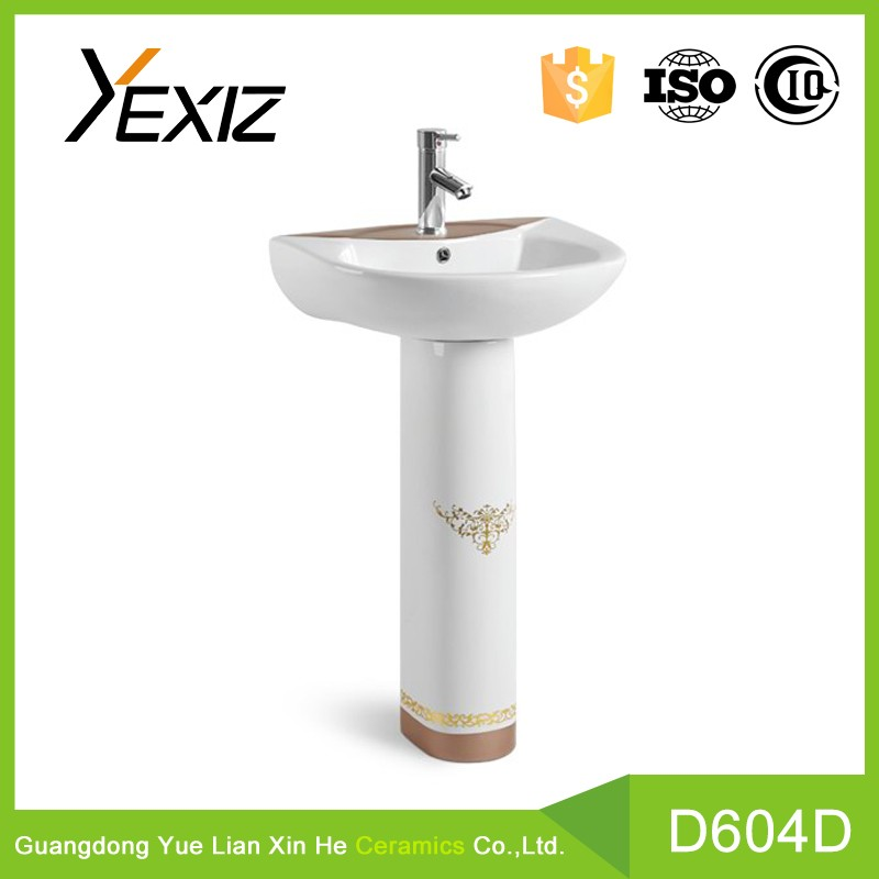 D604D elegant bath accessory china ceramic hand wash basin toilet