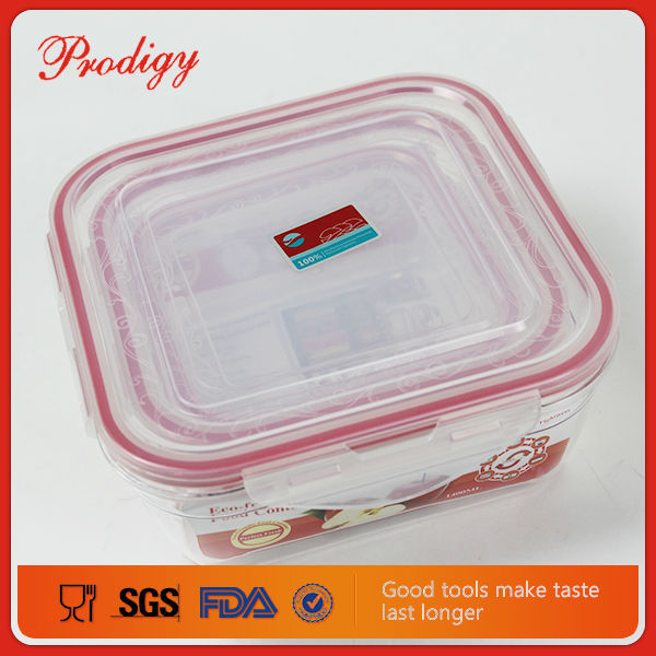 Eco-friendly 3Pcs/set PP Airtight Lock And Lock Food Container
