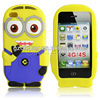 For iphone 4s Despicable Me Minions rubber cute animal phone case