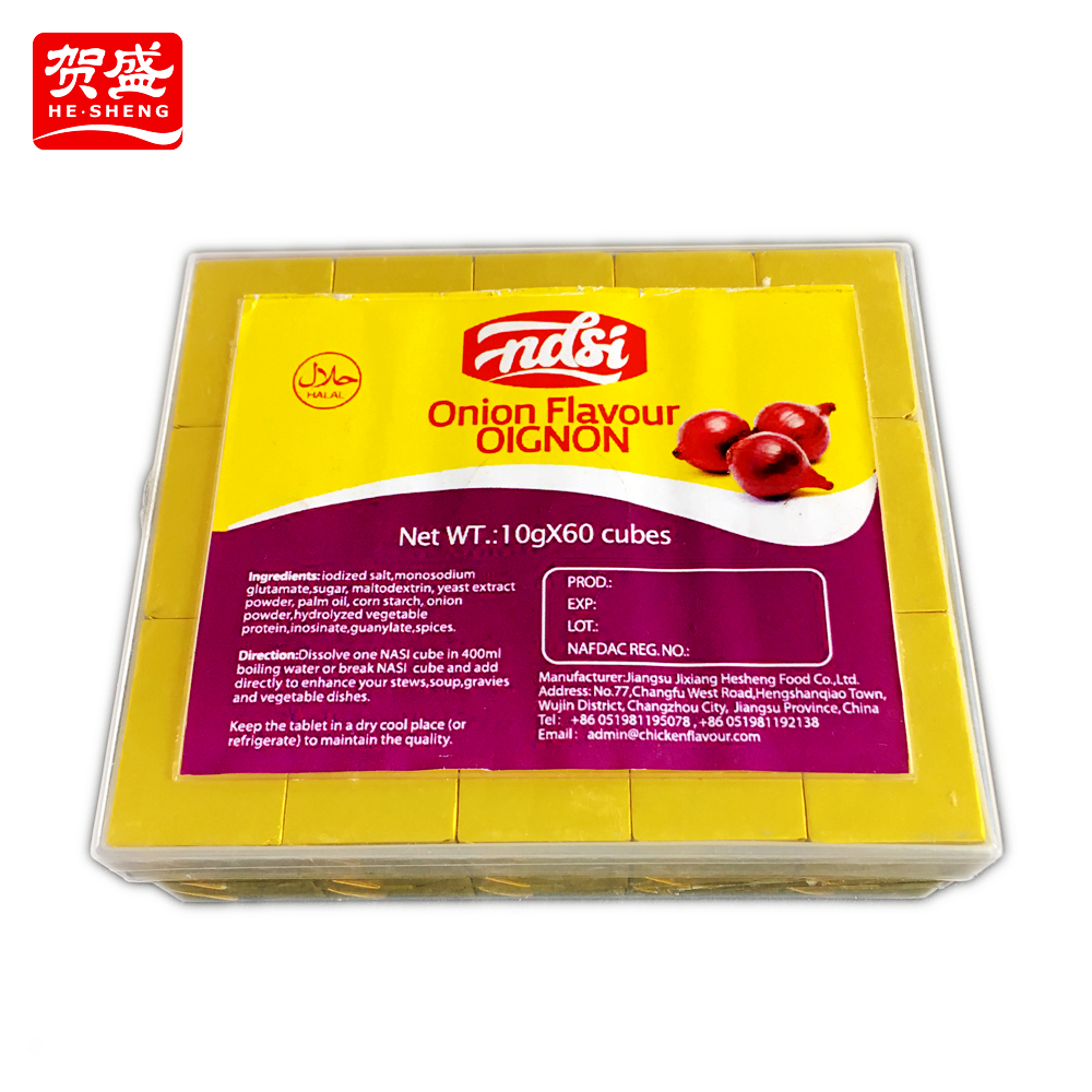 Manufacture prawns flavor halal chicken bouillon cube with no msg