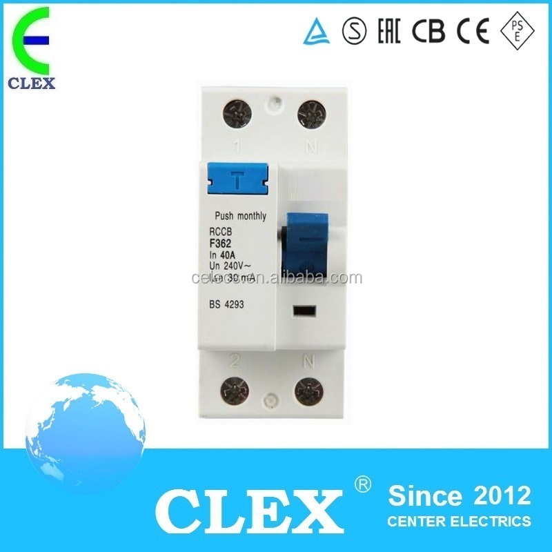 A type residual current circuit breaker F362 2P 40A RCCB elcb