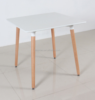 MDF top metal dining table