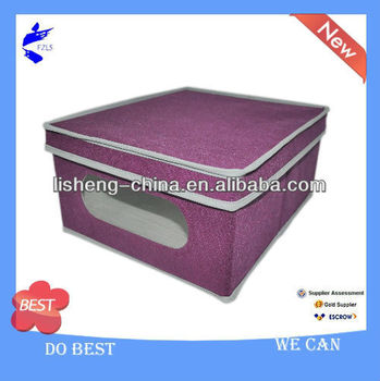 Non-woven Storage Box With Lid and PVC Window