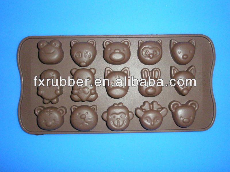 Cute little rabbit silcone chocolate baking mould