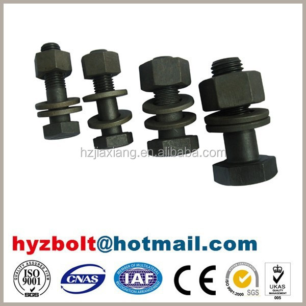 high quality bolt set with one nut two washers for steel structure