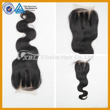 XBL Brazilian body wave different style three part lace closure