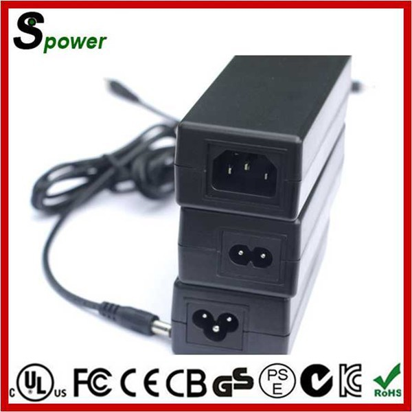 LVD Safety Standard Power Supply 12V 7A Adapter 84W with SAA PSE KC CE Canada USA Certification