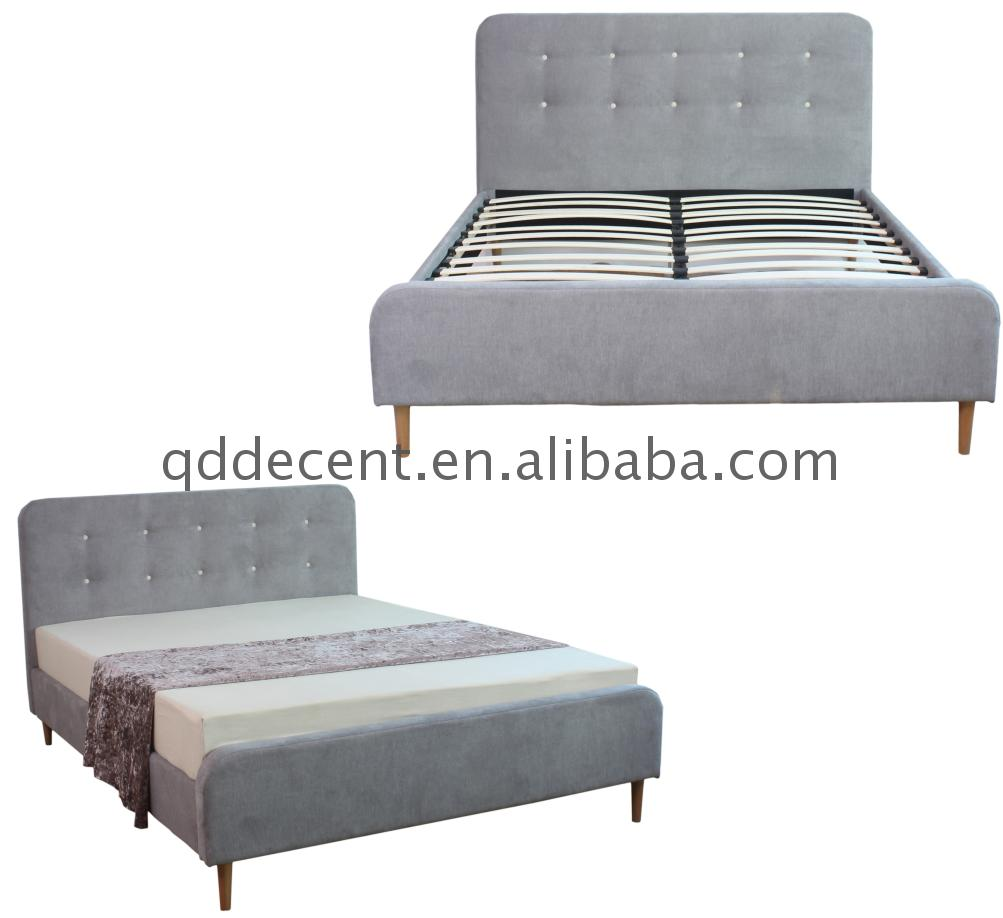 Latest modern frame fabric wooden beds 2017 new model