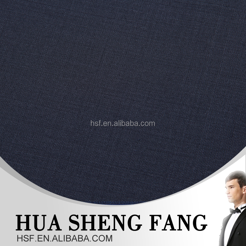 Cheap Black 50% Polyester 50% Wool Twill Suit Fabric