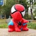cartoon spider man pvc money box, custom made cartoon money box coin bank for kids