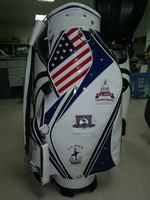 Golf staff bag with flag embroidery and custom logo high end golf bag