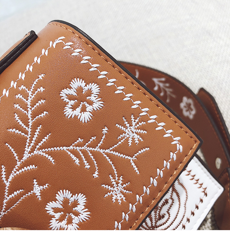 Toposhine Fashion Women Bag Panelled Vintage Flower Girls Bags for Girls Black PU Leather Women Messenger Bags Drop Shipping 18