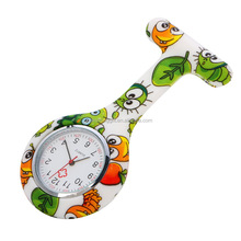 Cheap price custom design colorful pocket silicone rubber nurse doctor watches in stock