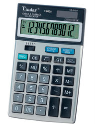 2014 newest model electronic t 12 digit check function tables calculator