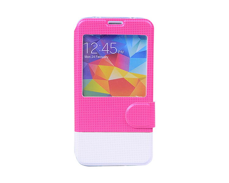 2014 pretty phone cases, stand leather flip case for Samsung S5