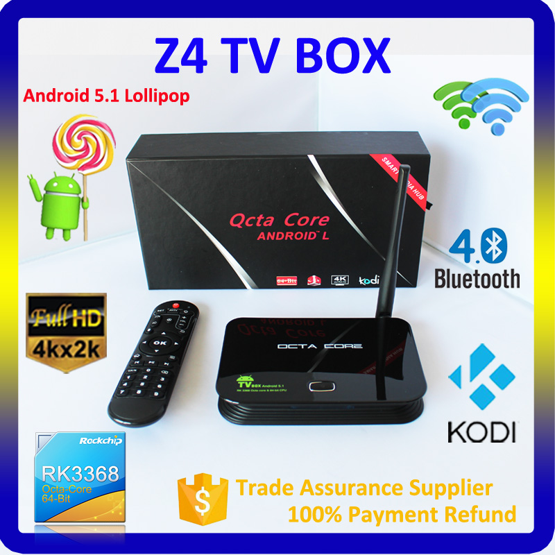 Hot!google android 5.1 smart tv lollipop osrk3368 android tv box with sim card digital kodi fire tv stick