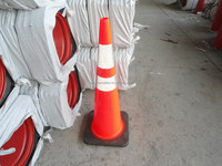 Black Base PVC traffic cones (CC-PV90)