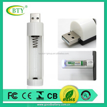 emergency single AA AAA battery adapter usb charger 1.2V