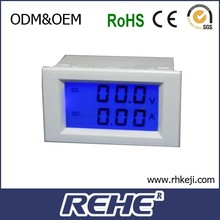 new product China factor LCD blue display DC current and voltage panel meter