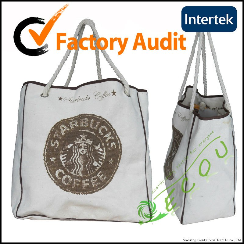 customized natural cotton promotional bag