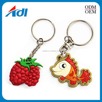 ECO-Friendly gift souvenir custom made 3d monkey shape pvc rubber keychain