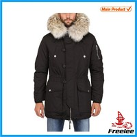 winter jacket and fur collar coat men russian winter coat