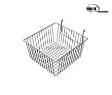 Alibaba supplier high quality metal stack basket, black, silver