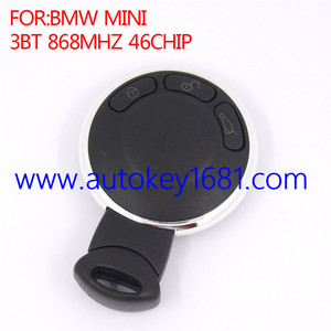 3 Button 868MHz 46chip Smart Remote Key Keyless Entry CAS System For BM W Mini Cooper car key