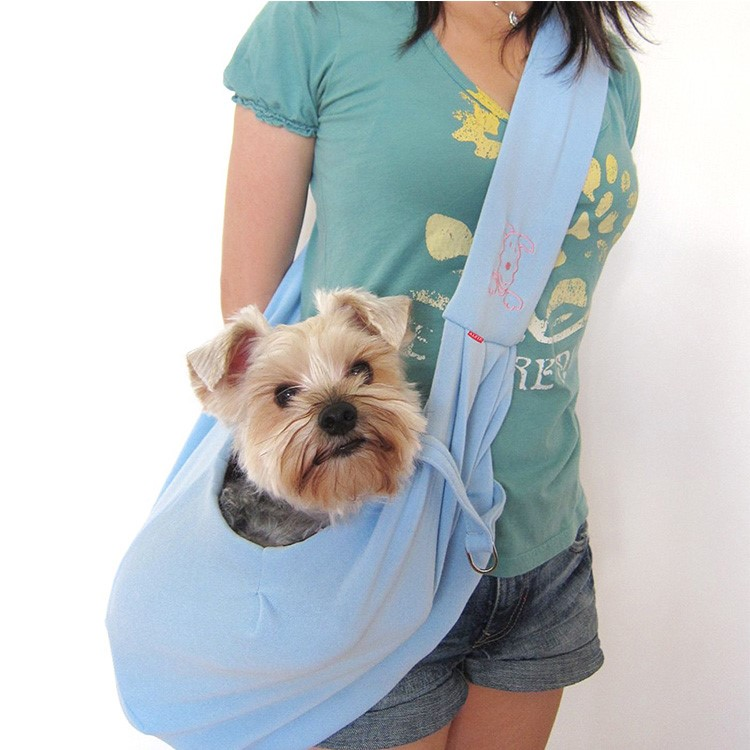 Reversible portable pet sling carrier bag